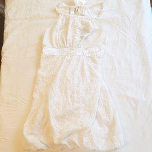 White Eyelet Sleeveless Sundress Size 3/4